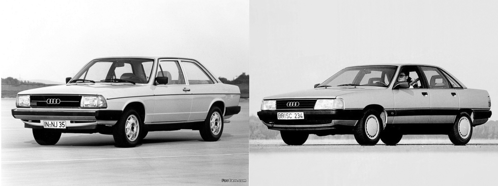 Audi 100 old and new.jpg