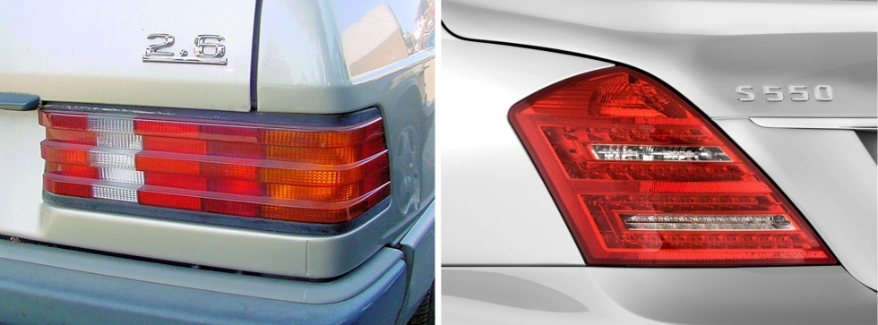 old and new benz tail lamps.jpg